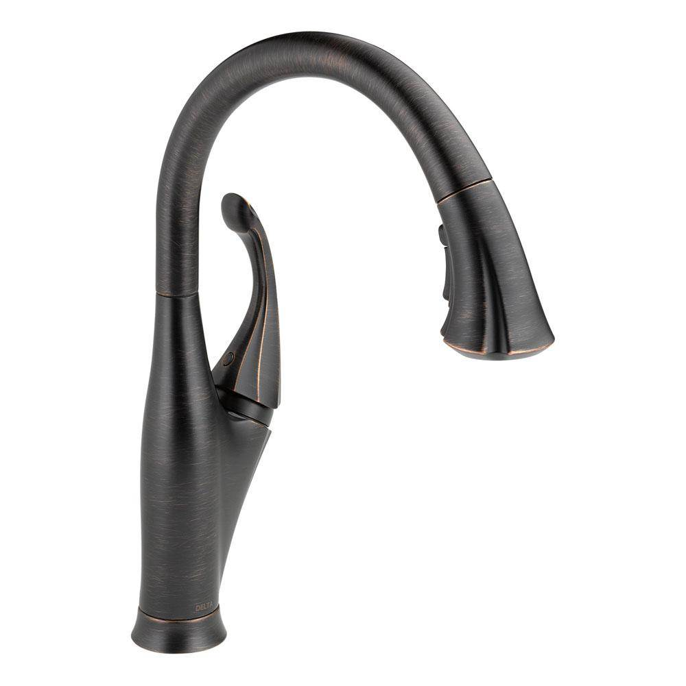 p down kitchen en pull benton arctic steel handle in sprayer spot delta stainless cassidy home faucet single