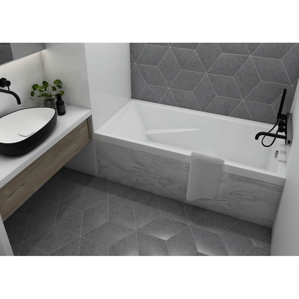 Mirolin Canada Three Wall Alcove Whirlpool Bathtubs item WB104L1NZ