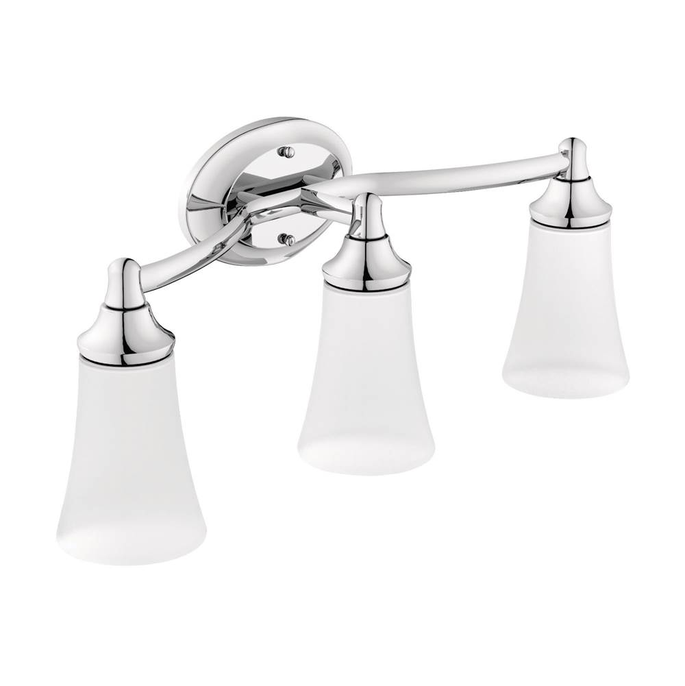 Moen Yb9863bn Waterhill Three Globe Bath Light Brushed Nickel: Bathroom Lights Lighting