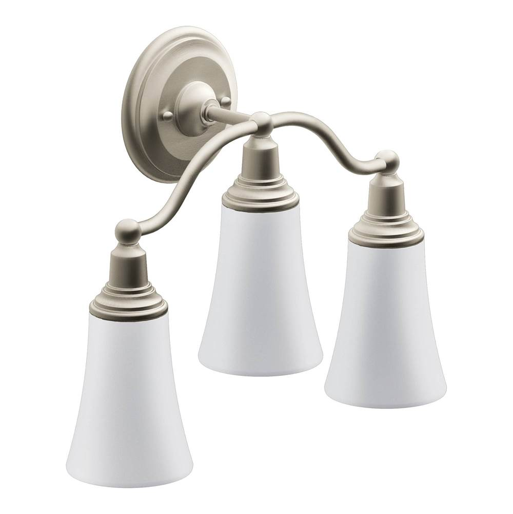 Moen Canada Three Light Vanity Bathroom Lights item YB8263BN