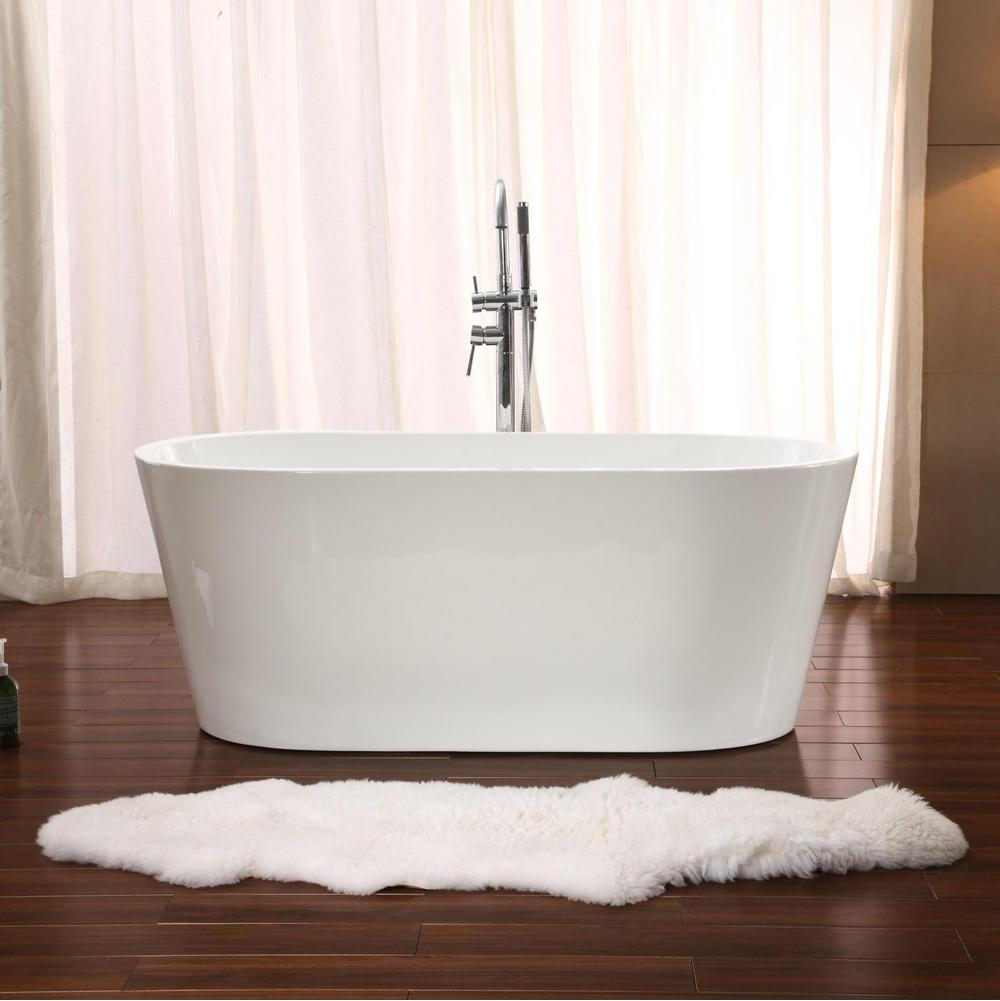 Bathroom tubs soaking tubs free standing white bathworks for Free standing soaking tub
