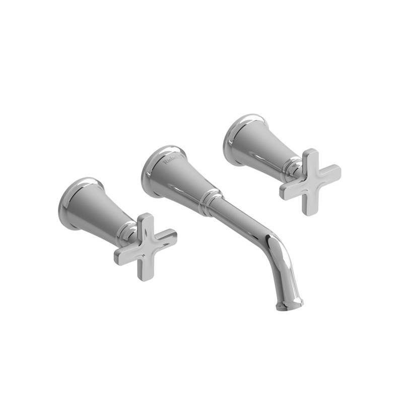 Riobel Wall Mounted Bathroom Sink Faucets item MMSQ03XBNBK-05