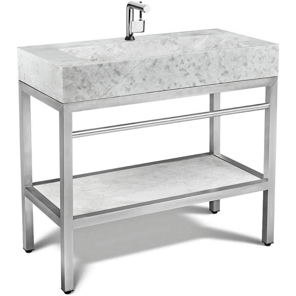 Unik Stone Canada Vanity Combos With Countertops Vanity Sets item VMS-039+LMS-039